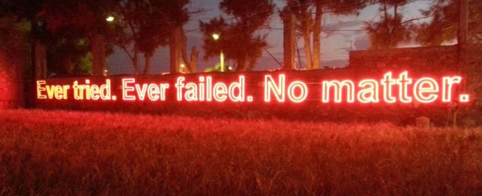 ever tried ever failed no matter advice for freelancers